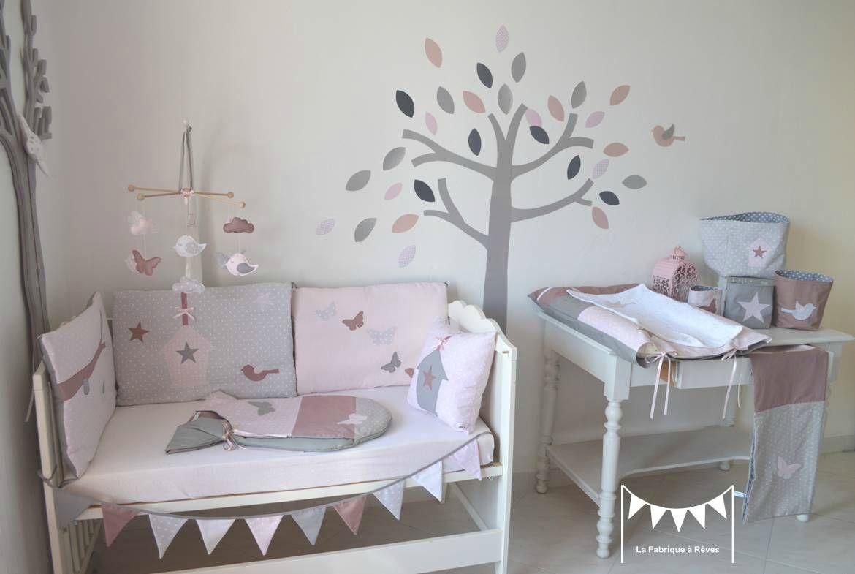 décoration chmbre bébé enfant fille rose poudré gris rose ancien ...
