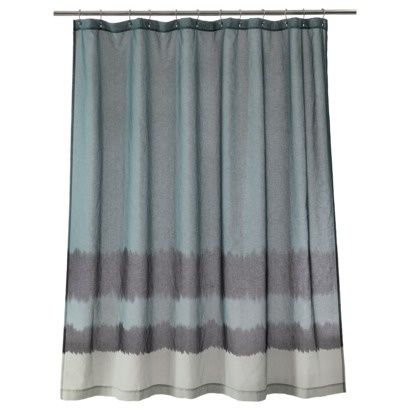 Nate Berkus Dip Dyed Shower Curtain Fabric Shower Curtains Bungalow Decor Colorful Curtains