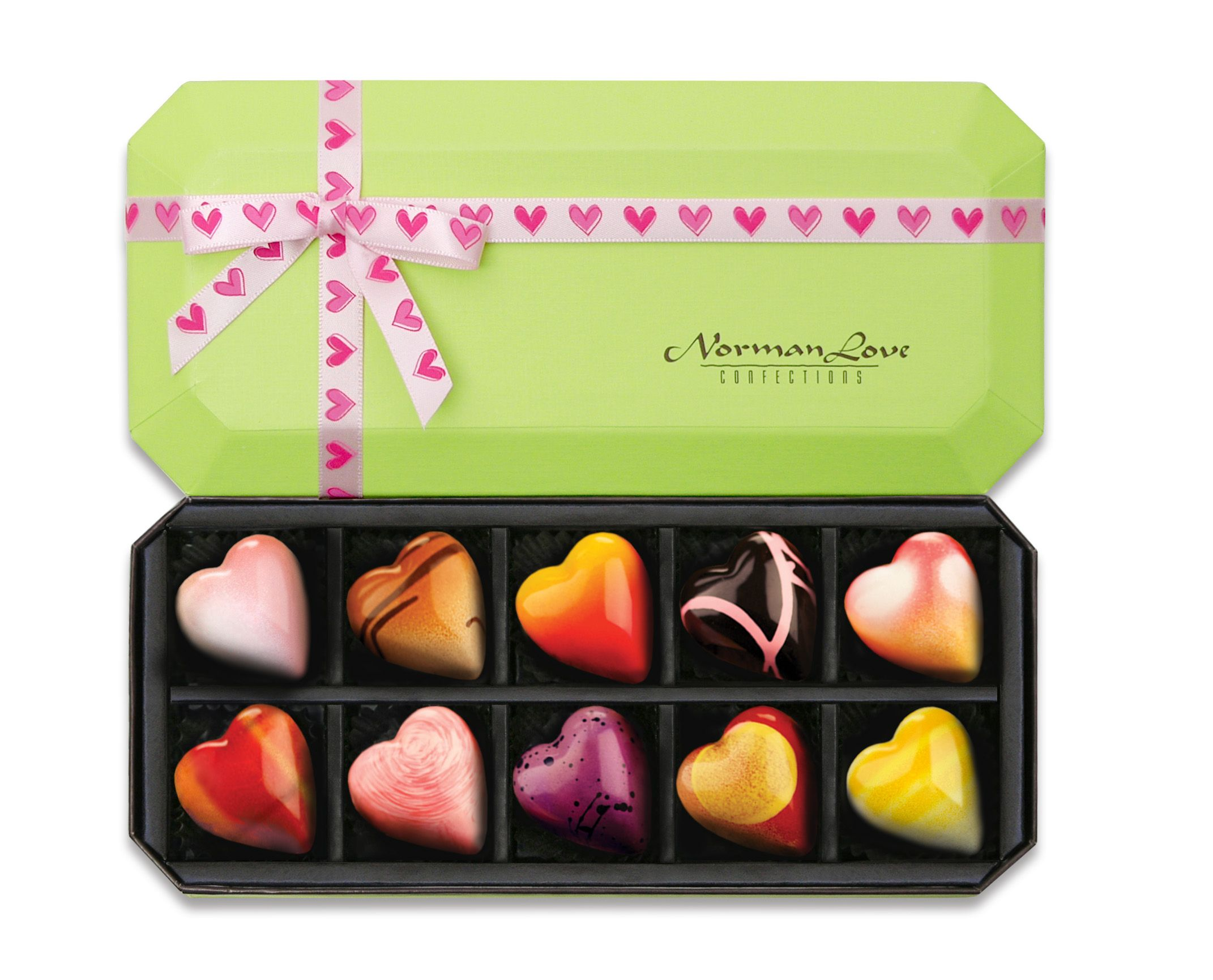 10pc. All Hearts Valentine's Day Chocolate Gift Box ($23.00) #NormanLoveConfections