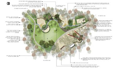 pukekura park playground landscape architecture brown new