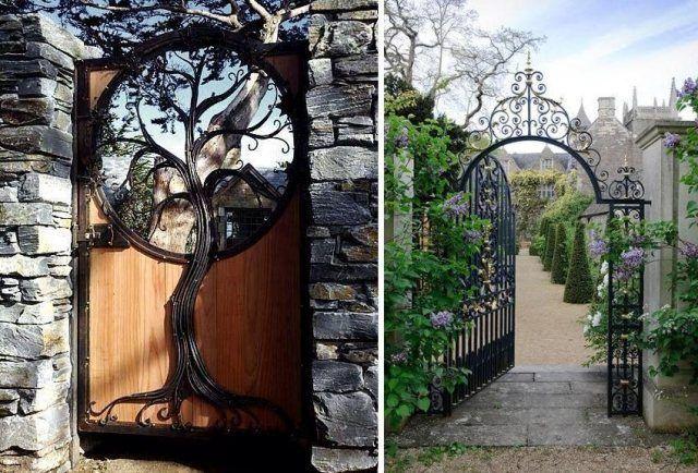Portillon de jardin et portail les premiers qui nous accueillent id es pour la maison pinterest - Portillon jardin bois ...