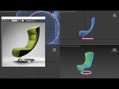 TIP_model Chair fashion_quickly YouTube 3ds max