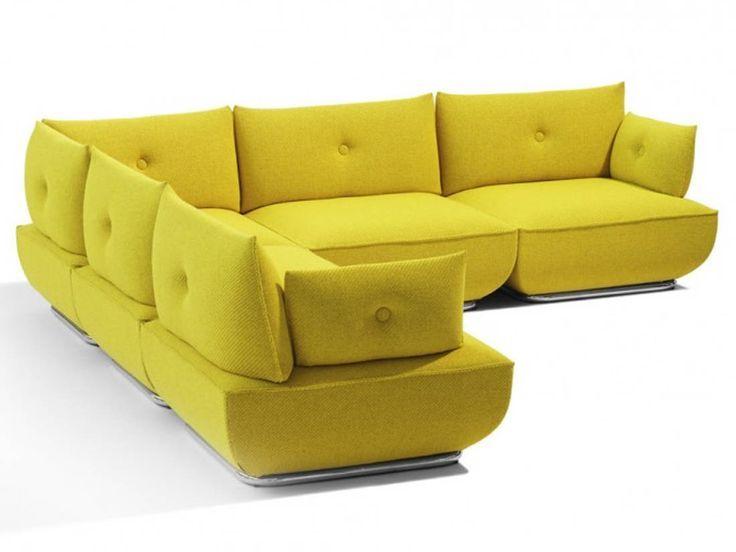 Photo canapé modulable jaune → touslescanapes.com   Product ...