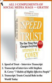 "Get Stephen M.R. Covey's ""The Speed of Trust"" + 3 totally FREE gifts"