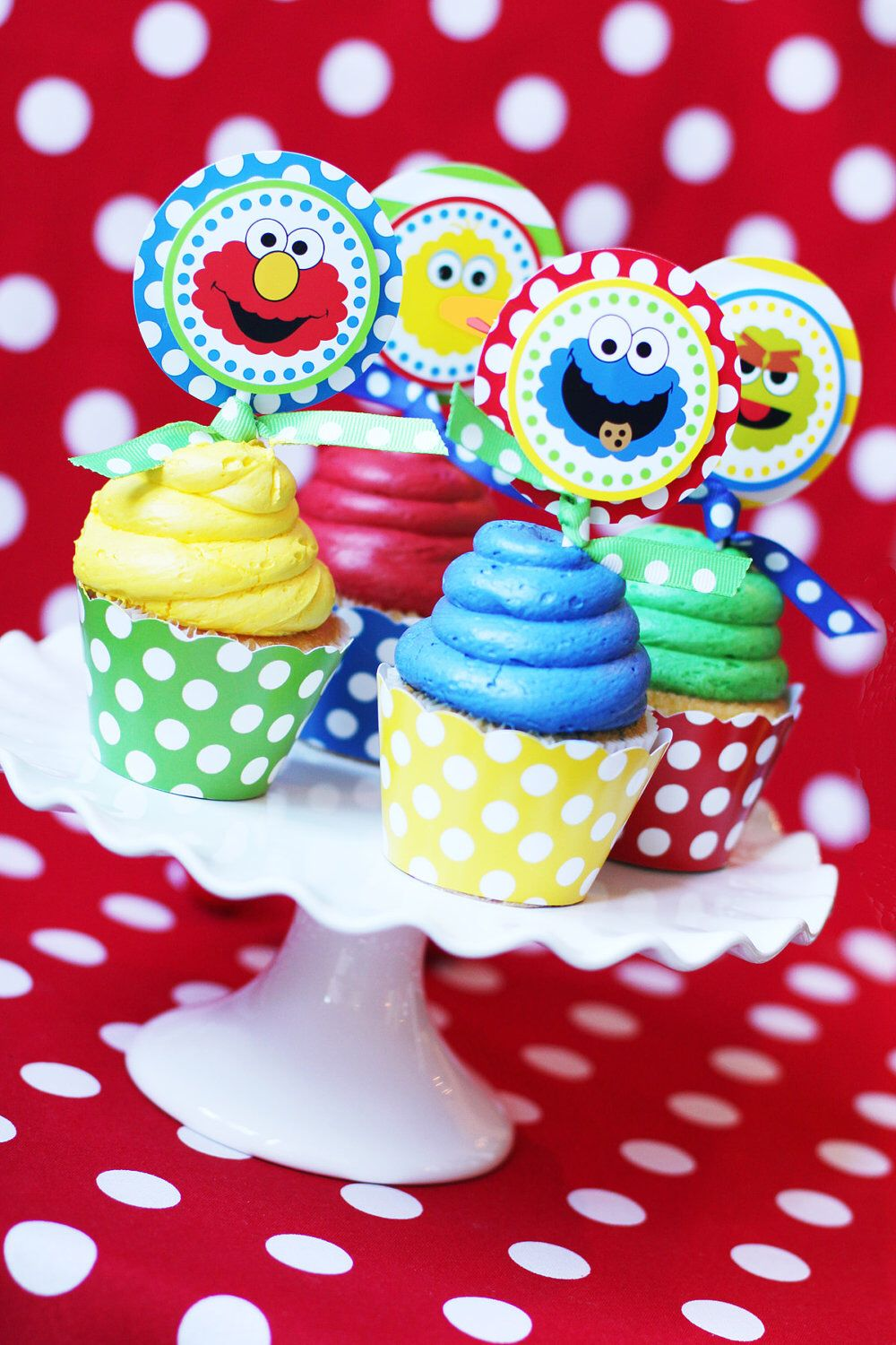Sesame Street Birthday Party Sesame Street Cupcake Toppers Elmo