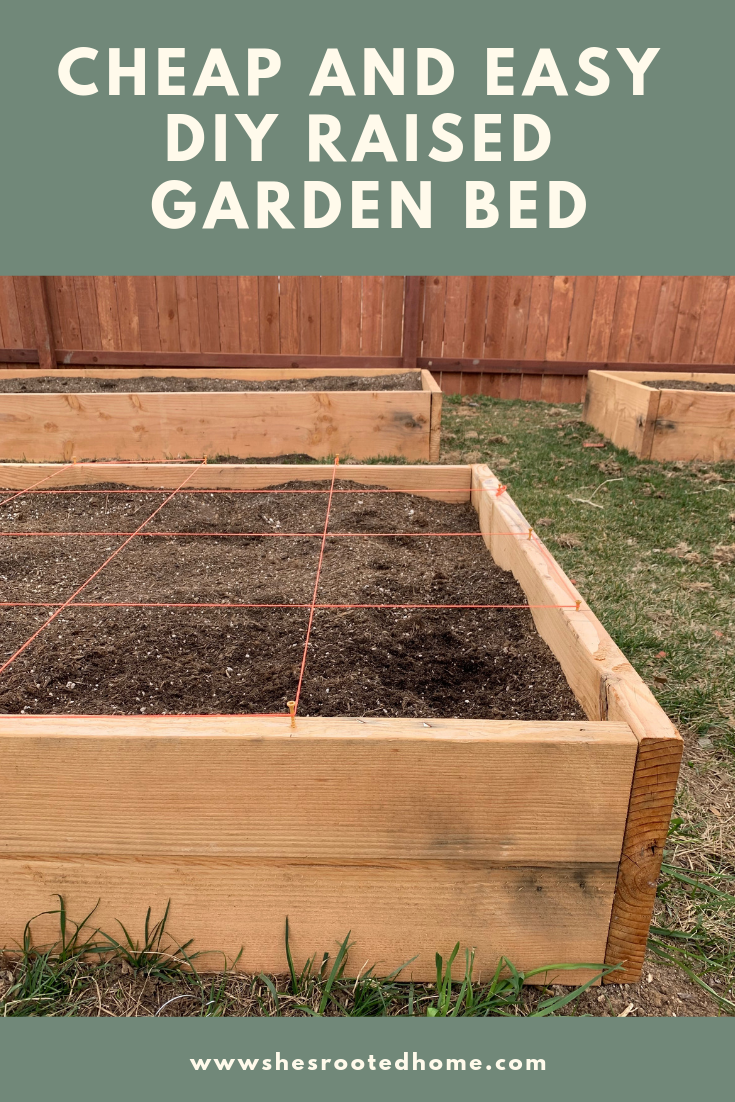 Cheap Easy Diy Raised Bed Garden With Images Raised Garden Beds Diy