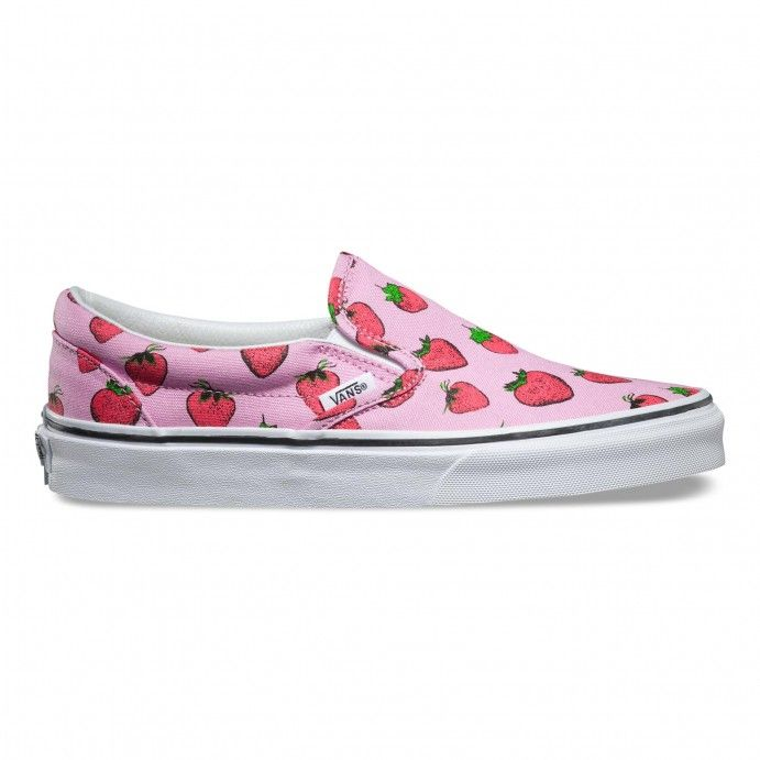 e8f316e1b25d Vans Late Night Classic Slip-On Shoes (Strawberries) Pastel Lavender/True  White - Vans Netherlands Official Online Store