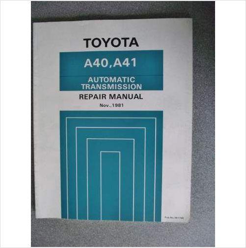 Toyota Automatic Transmission Manual A40 A41 36174e On