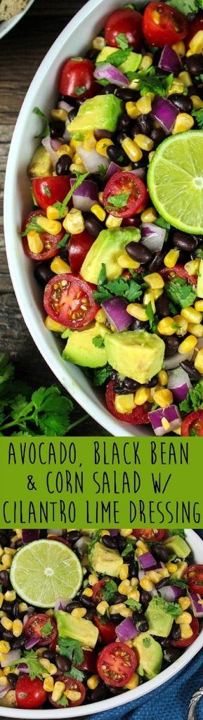Avocado, Black Bean & Corn Salad Recipe
