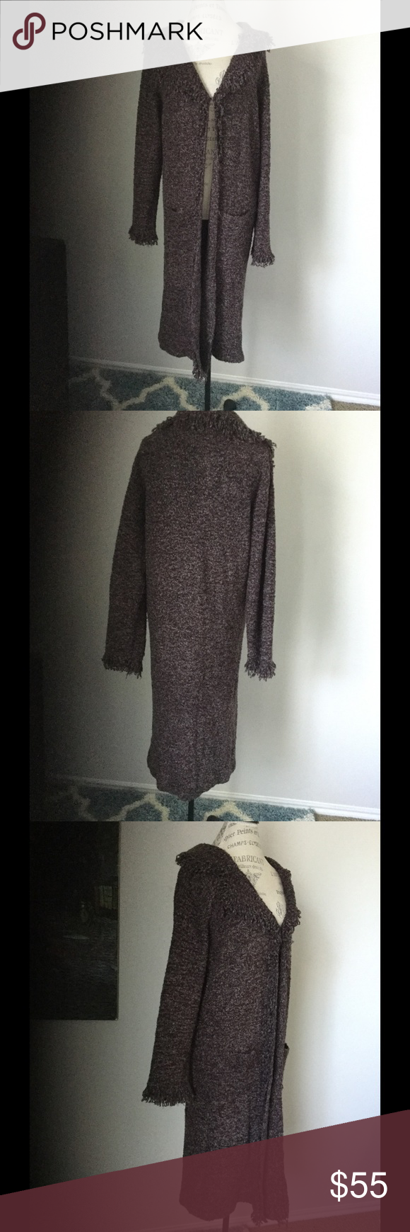 """Long brown sweater Large / XL Pit to pit 22"""" and its 43"""" long, great condition fits size L / XL Elizabeth Scott Sweaters Cardigans"""