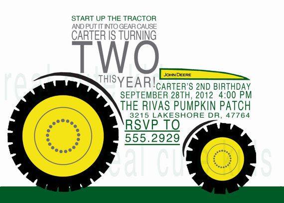 printable birthday invitation diy printable file - john deere, Birthday invitations