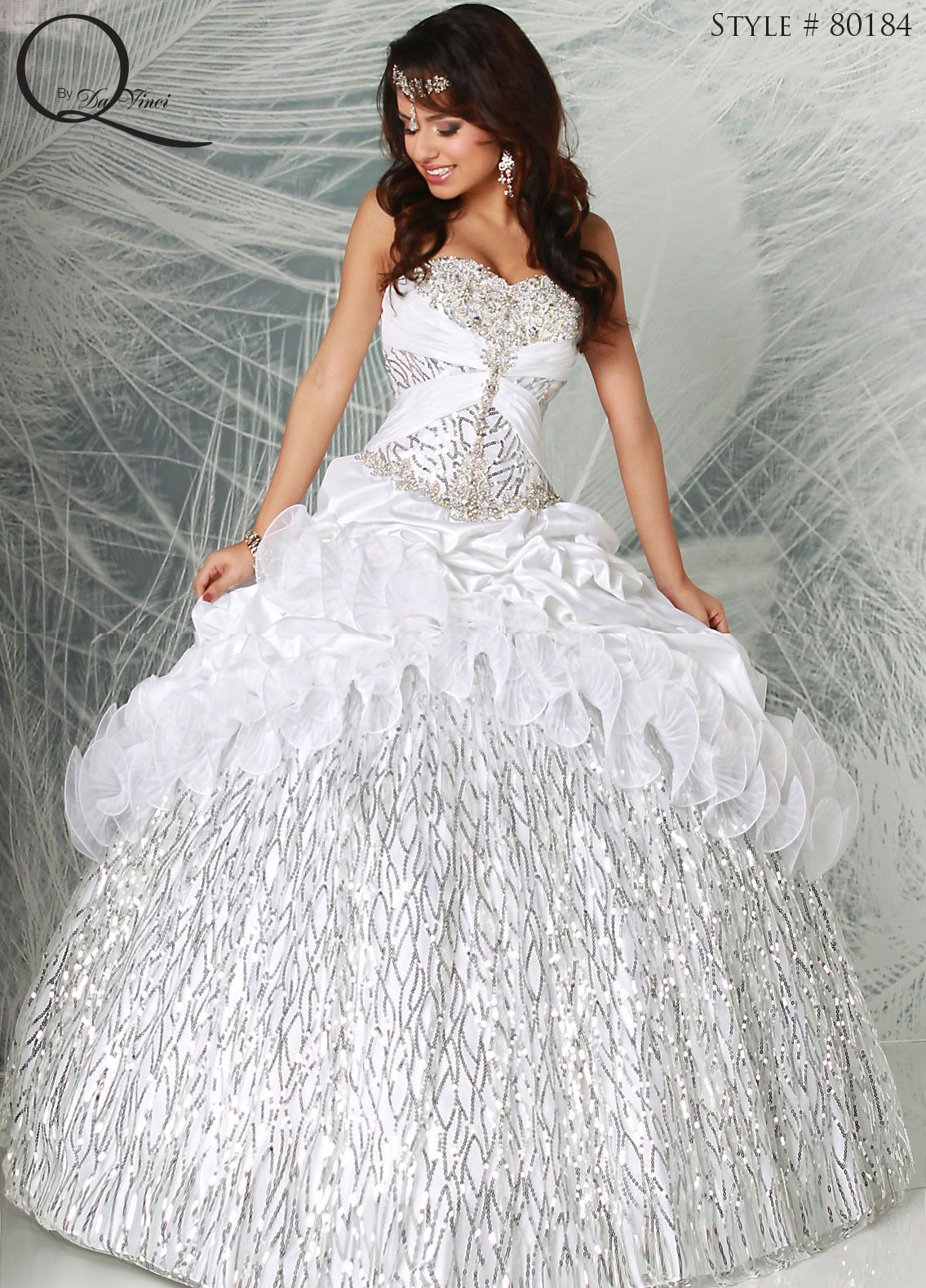 And quinceanera silver dresses