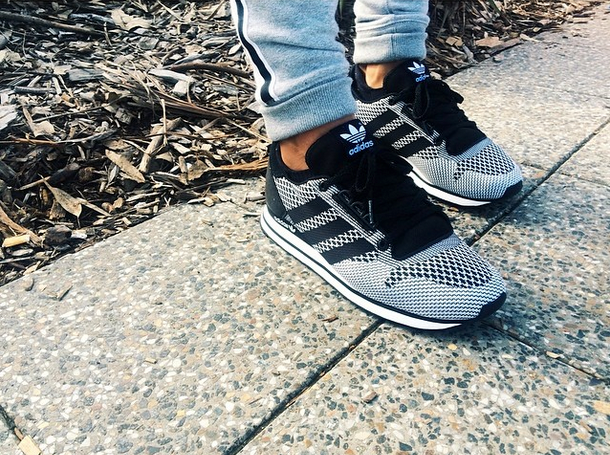 This week's #kickoftheweek: the ZX 500 Weave. Taking the original silhouette of the 1984 ZX 500, #adidasOriginals has reproduced the shoe in a singular piece of fabric. Out now in a variety of bold colourways. Photo cred: @eugenedavidgrey via Instagram