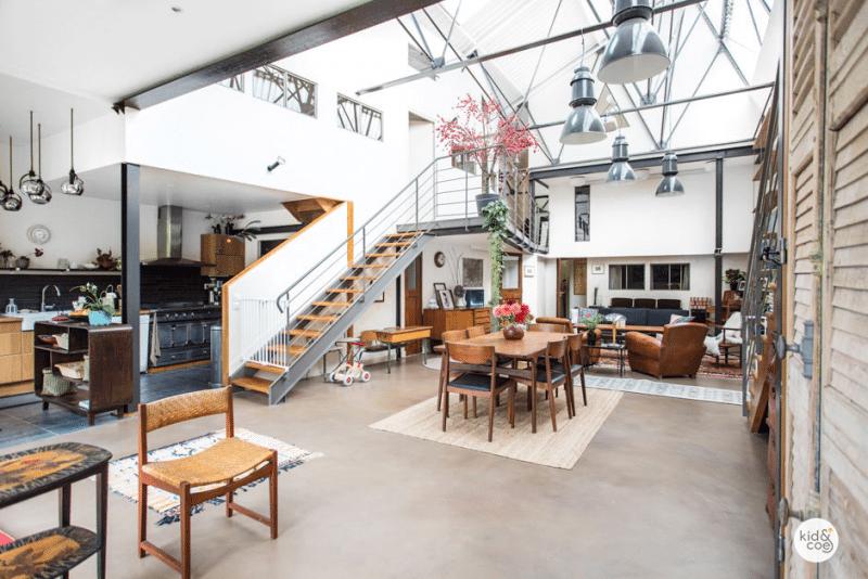 loft industriel la d co vintage ivry sur seine casas. Black Bedroom Furniture Sets. Home Design Ideas