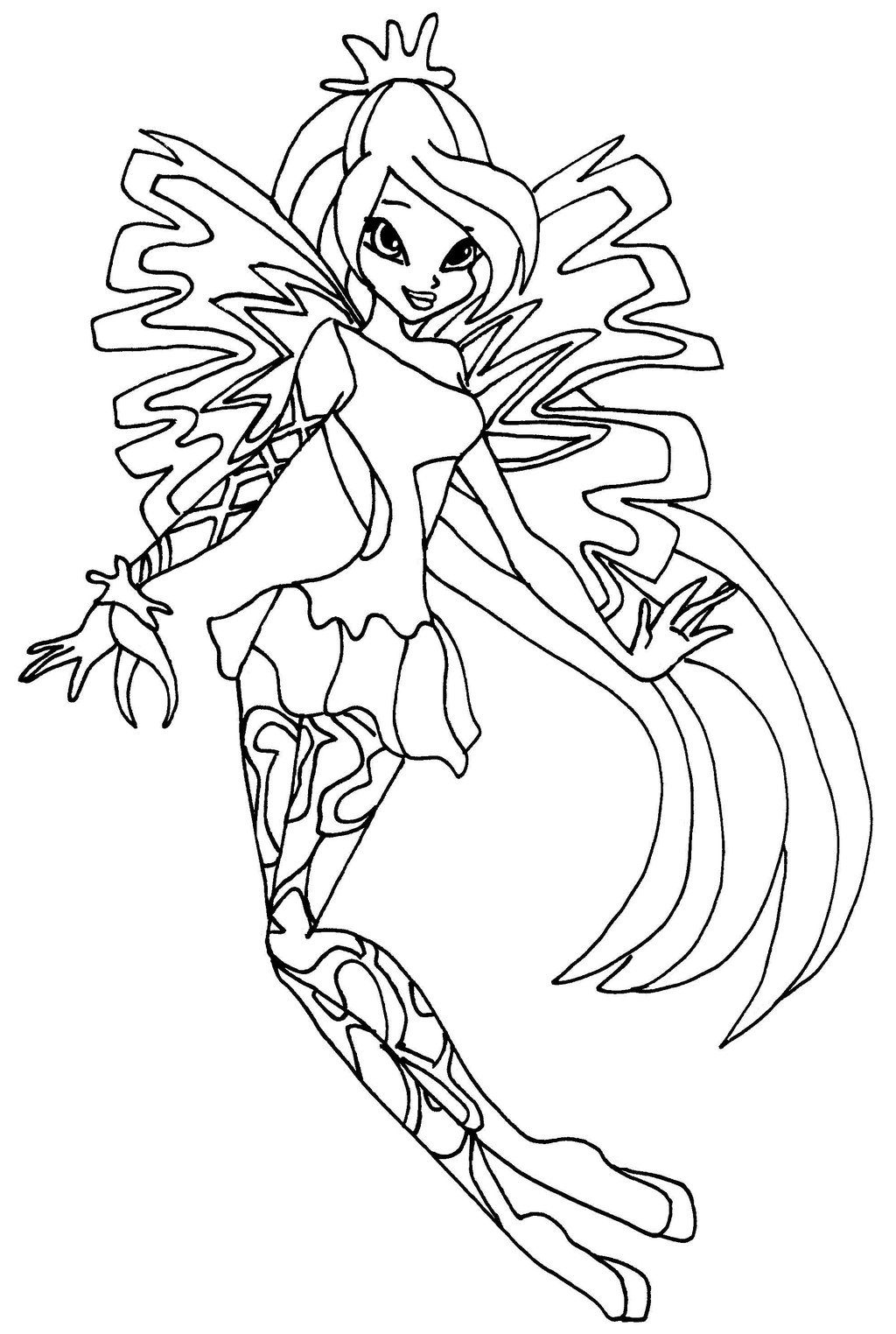 Winx Club Bloom Sirenix Coloring Pages Cartoon Coloring Pages Coloring Pages Bear Coloring Pages