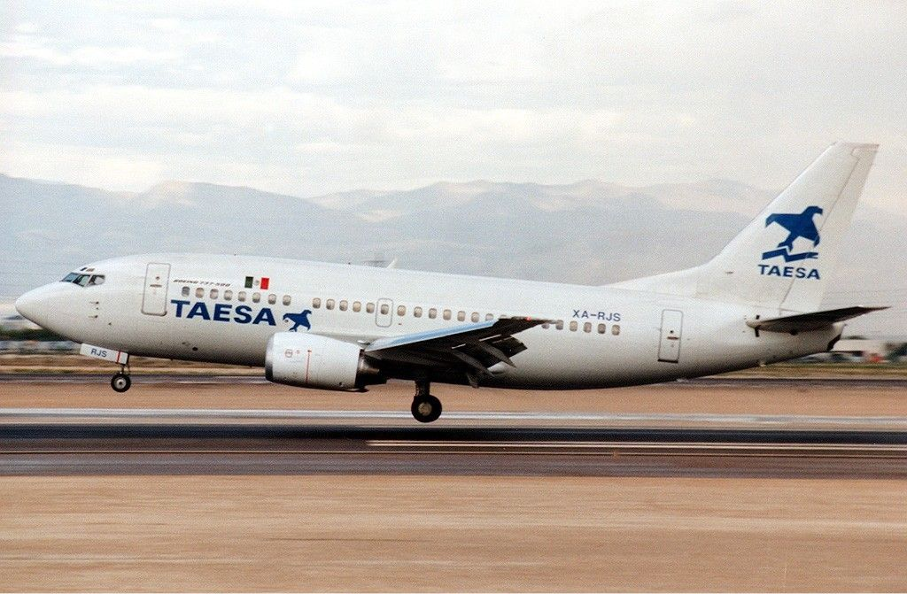 TAESA Boeing 737500 JetPix TAESA Lineas Aéreas