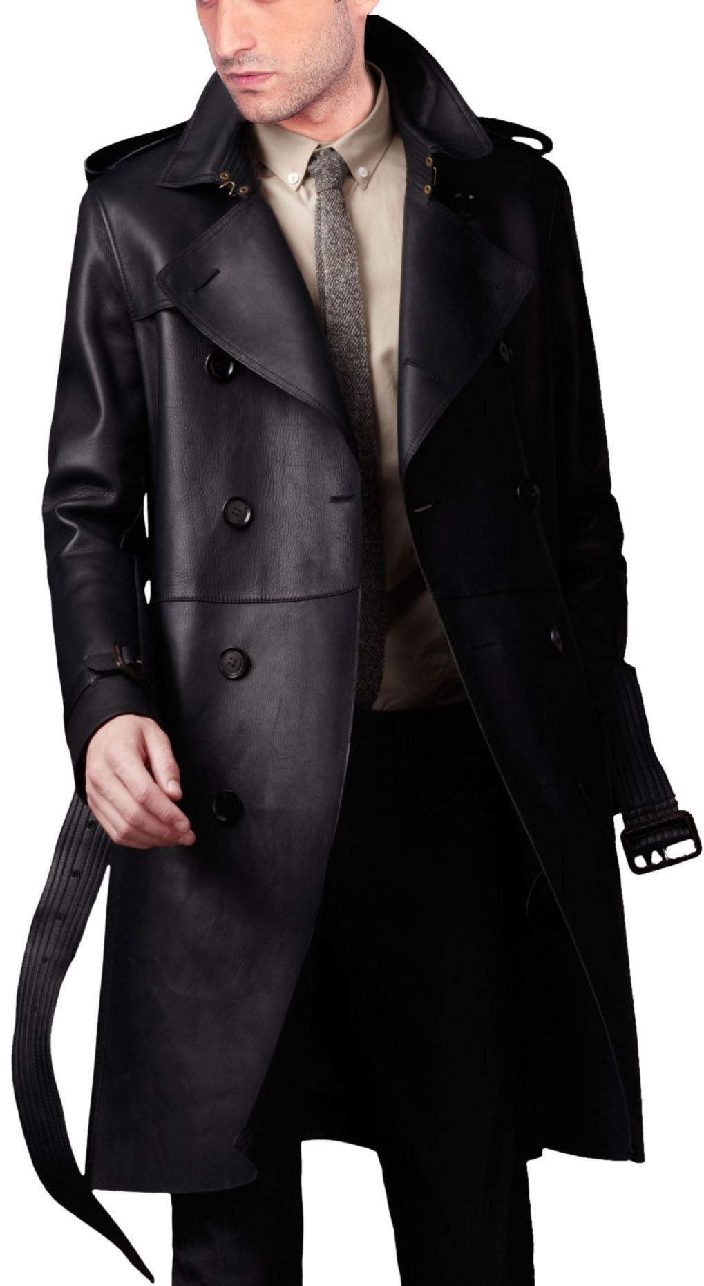 trench-leather-coat-front.jpg (1019×1860) | Cloth | Pinterest ...