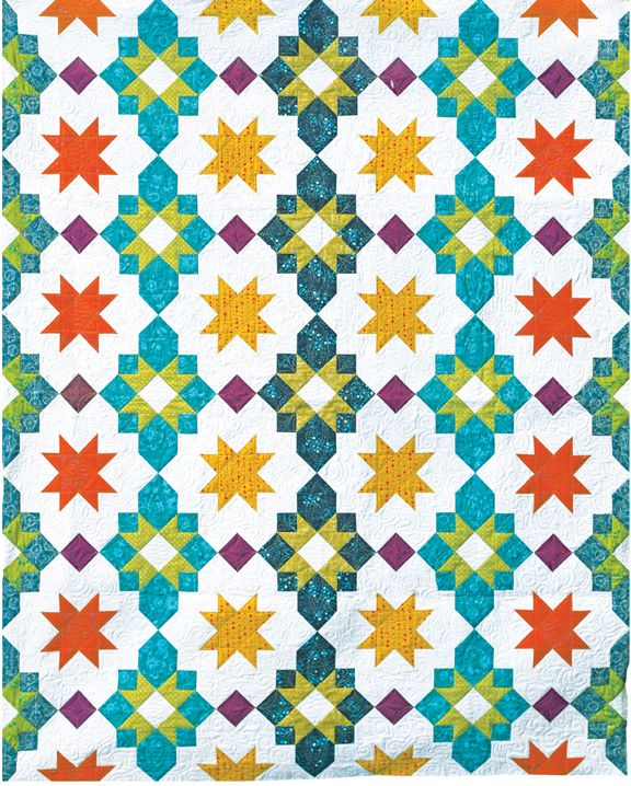 Freshly Pieced Modern Quilts Another New Pattern Moroccan Lanterns - new blueprint paper binding strips