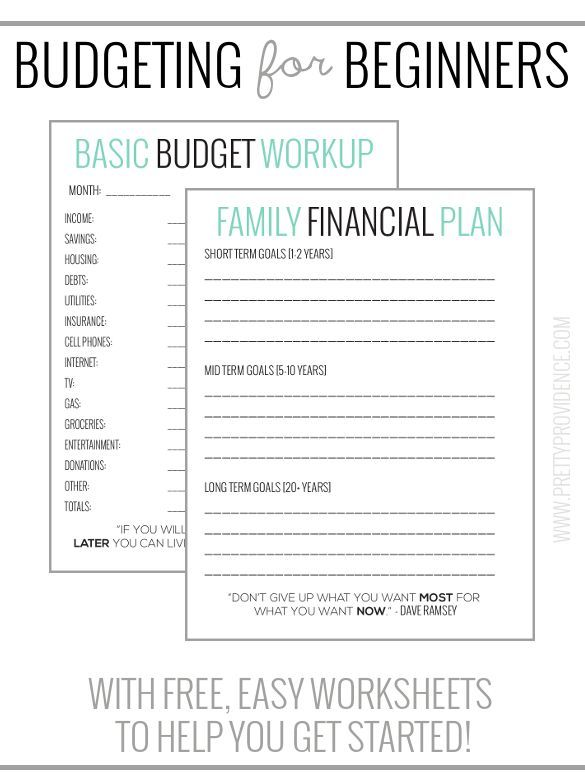 Basic Budgeting with free worksheets to get you started! Pinterest - basic budgeting worksheets