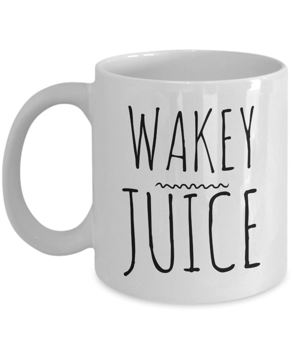 Wakey Juice Mug Ceramic Funny Coffee Cup