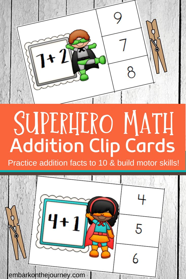 Predownload: Superhero Math Addition Clip Cards Superhero Math Superhero Math Activities Math Clip Cards [ 1102 x 735 Pixel ]