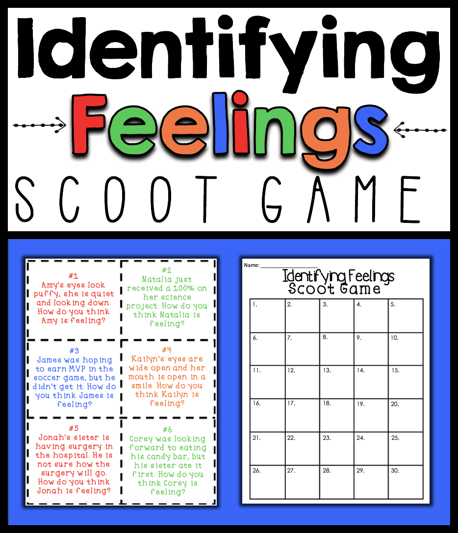 Workbooks wishes and feelings worksheets for children : Identifying Feelings and Emotions Scoot Game | Help teaching ...