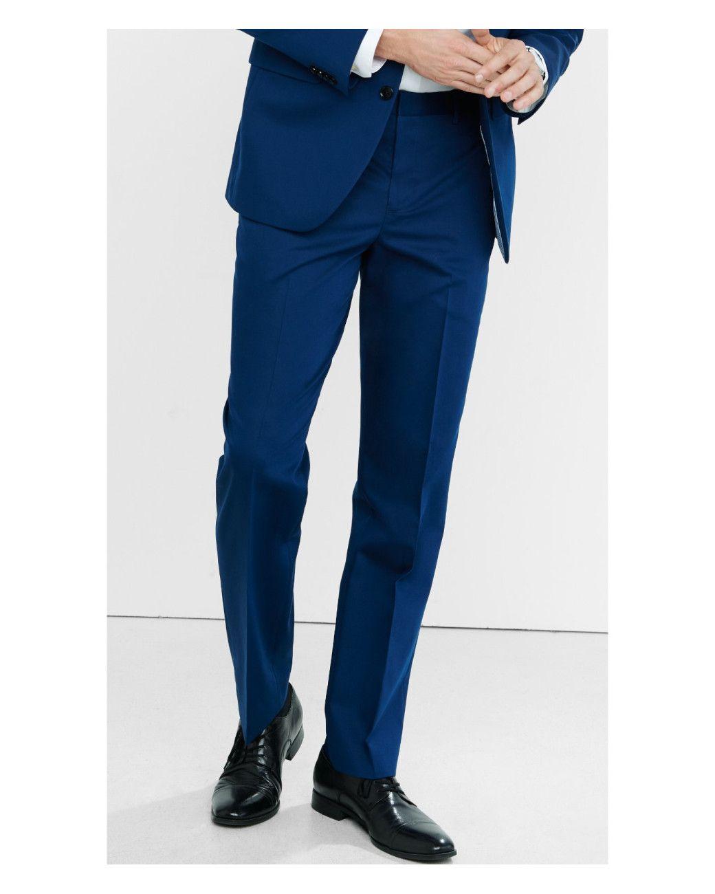 Express | Photographer Cotton Sateen Navy Blue Suit Pant for Men | Lyst