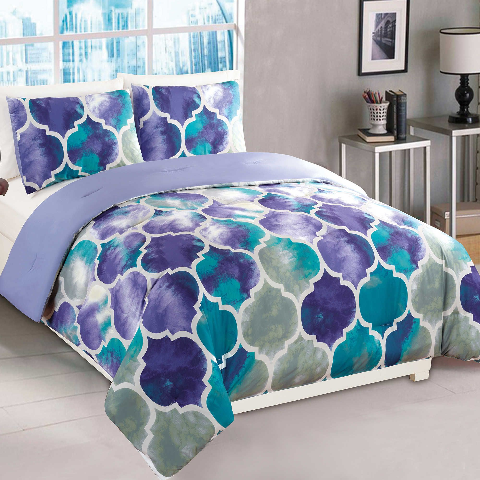 Emmi 2 Piece Twin Comforter Set In Purple Teal Bed Bath Beyond