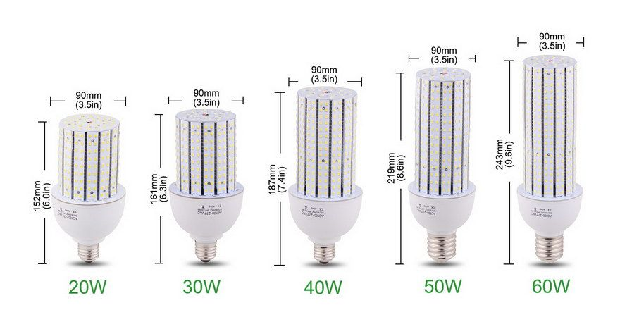 90 Class Led Corn Bulbs Etl Saa Tuv Certified Types Street Lamp Led Energy Saving Projects