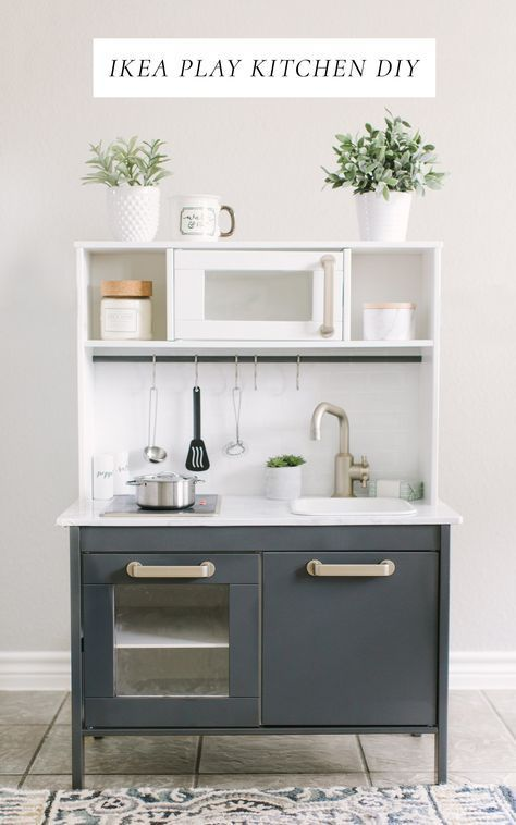 Ikea duktig play kitchen diy makeover this is an inexpensive and simple diy project to make a - Cuisinette ikea ...