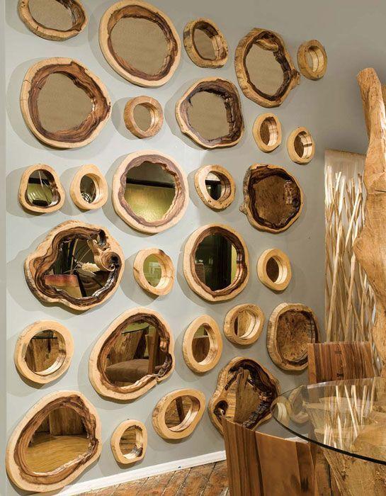 20 ideas creativas para decorar con espejos reciclados - Decorar marcos de madera ...