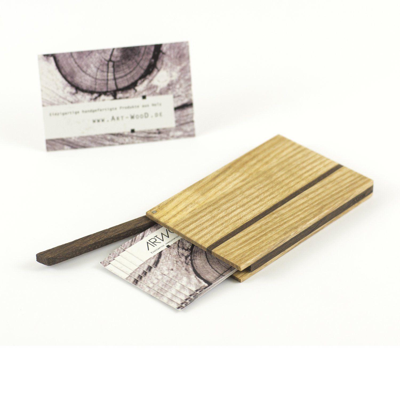 Schönes Holz Visitenkartenetui Aus Einheimischen Hölzern