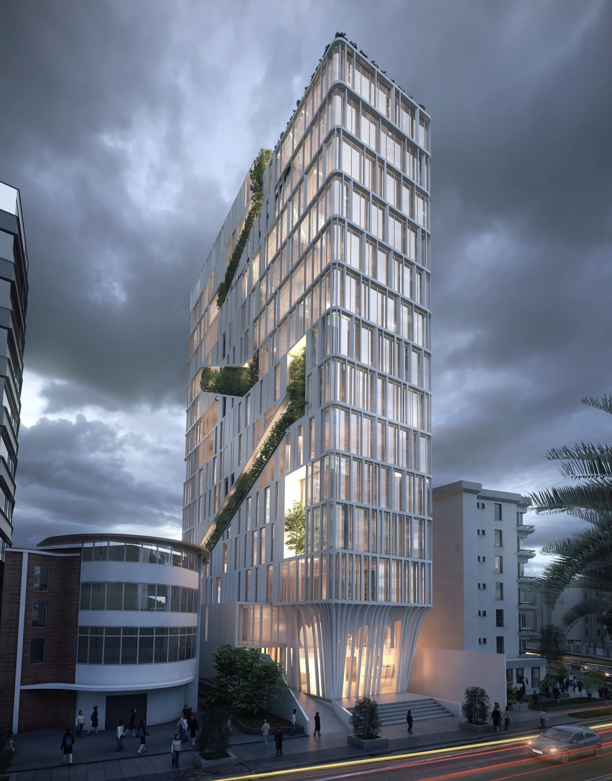Gallery Of Odd Architects Design Slender Tower In Ecuador To Connect With Nature 2 Facade Architecture Architect Design Amazing Architecture