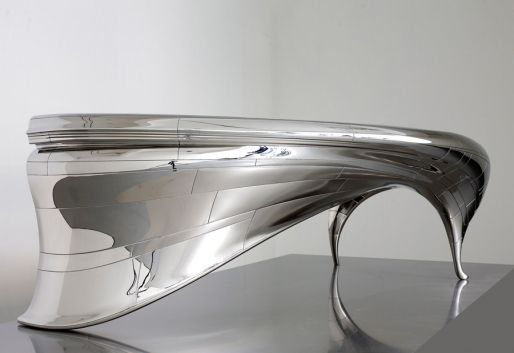 futuristic office desk. cool futuristic desk with silver finish you see below is designed by jeroen verhoeven office o