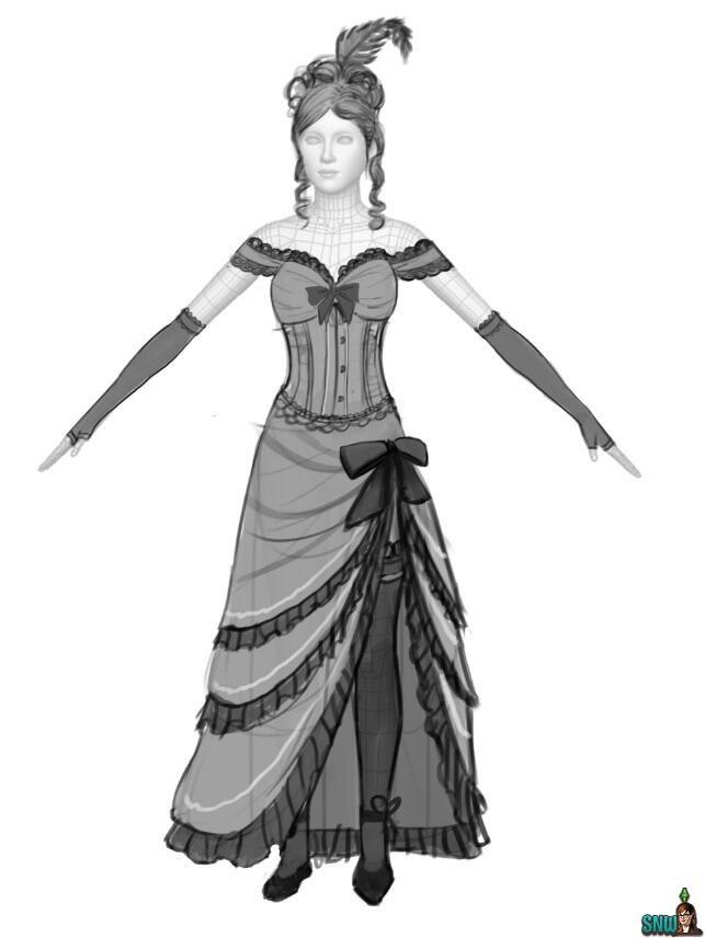 Saloon girl costumes on pinterest plus size costume - Dessin saloon ...
