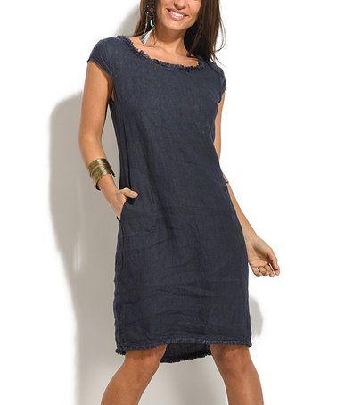 6a3fe793a14e Love this Navy Blue Gala Linen Dress by Bohabille Paris on  zulily!   zulilyfinds