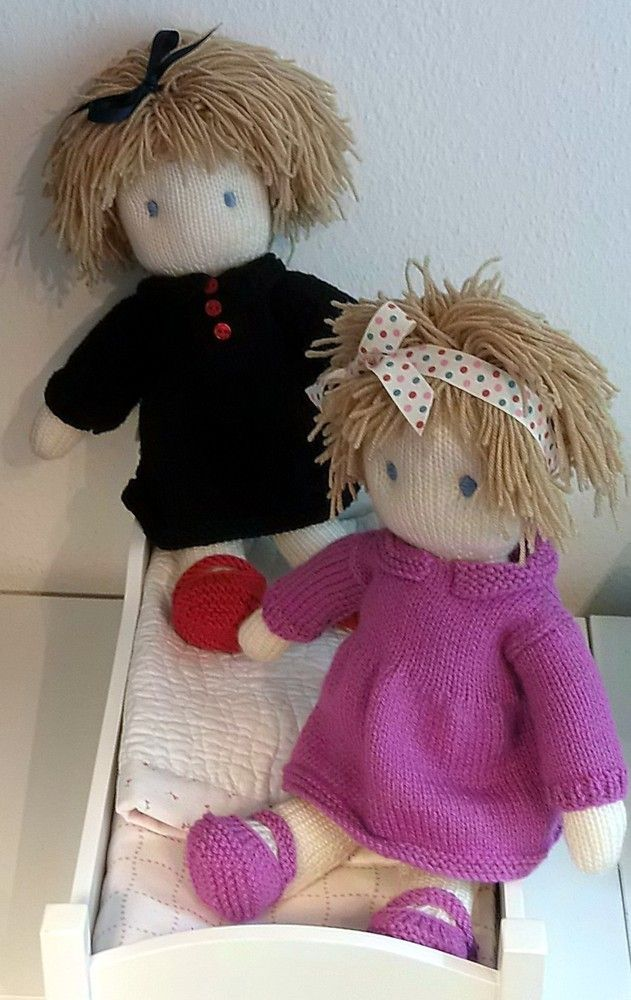 Toy doll knitting pattern | Knitted doll patterns, Knitted ...