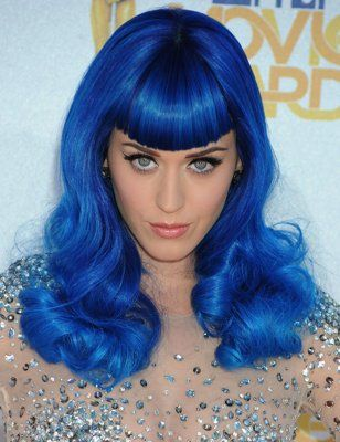 It S Official Neon Hair Is Back Katy Perry Blue Hair Neon Hair