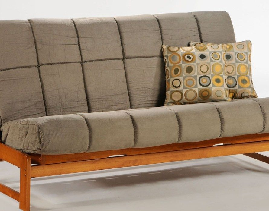futonGrey Futon For Wooden Bench With Back Which Can Be Transformed