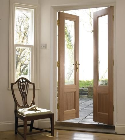 Glazed hardwood french doors for looks company is in uk for Narrow exterior french doors