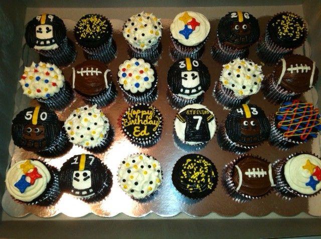 Steeler Cupcakes Birthdays Cake and Food