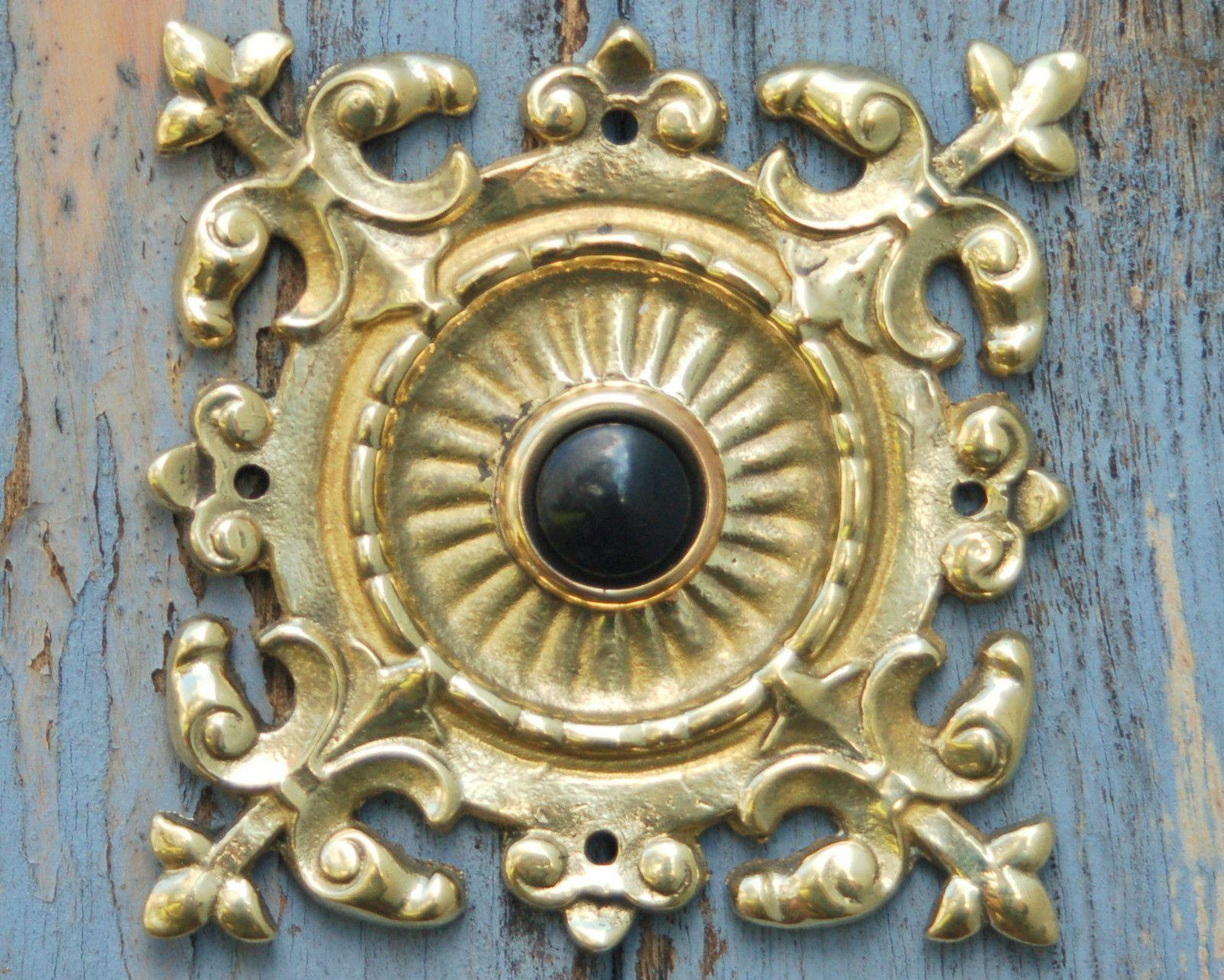 Antique Victorian Push Button Doorbell Buzzer Door Bell