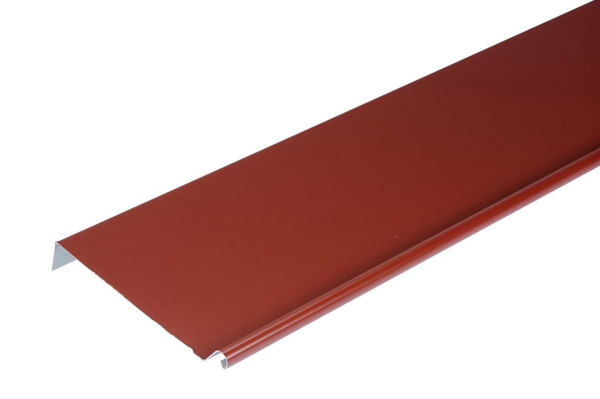 bande de rive acier galva rouge. Black Bedroom Furniture Sets. Home Design Ideas