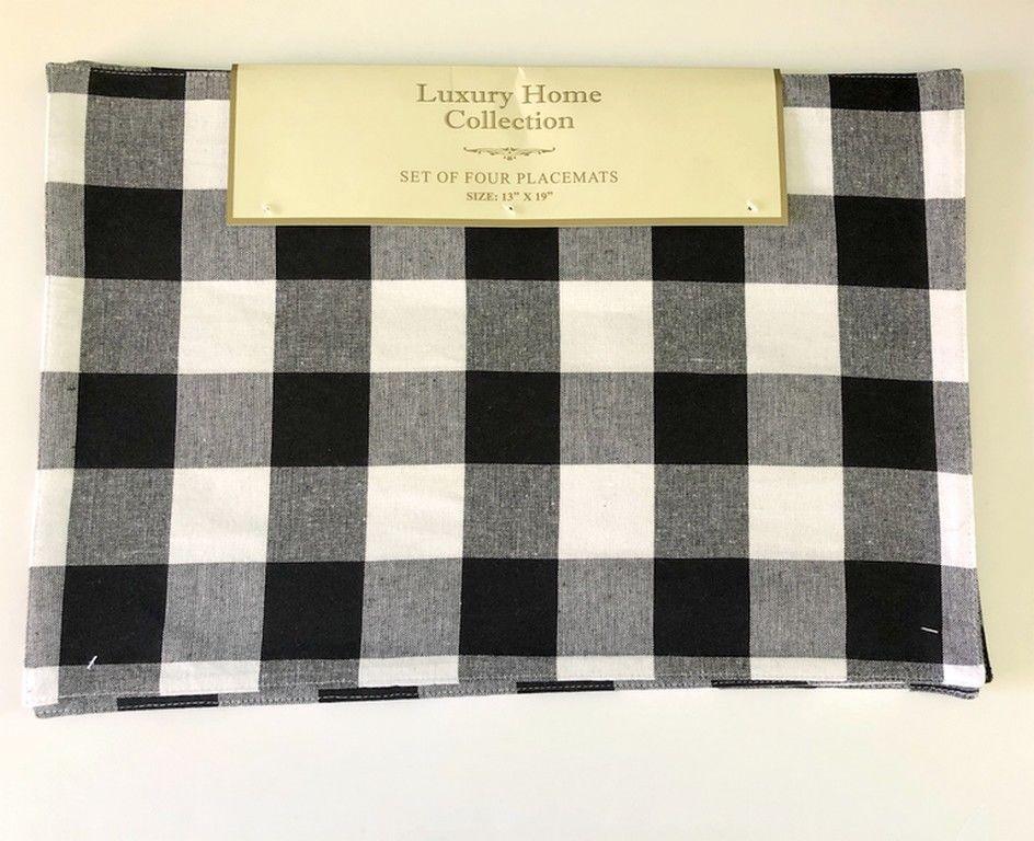 Details about Maison d\u0027 Hermine Faience 100 Cotton Set of 4