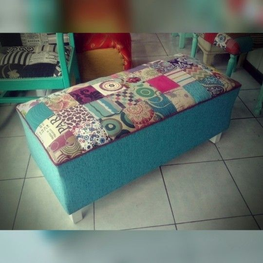 Pie de cama patchwork.
