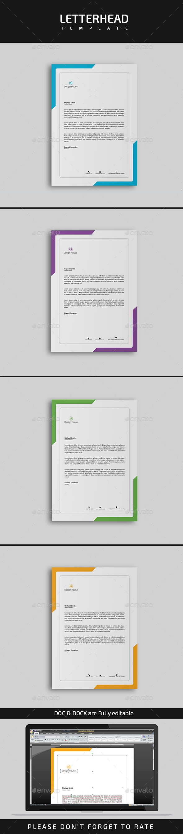letterhead template stationery print templates