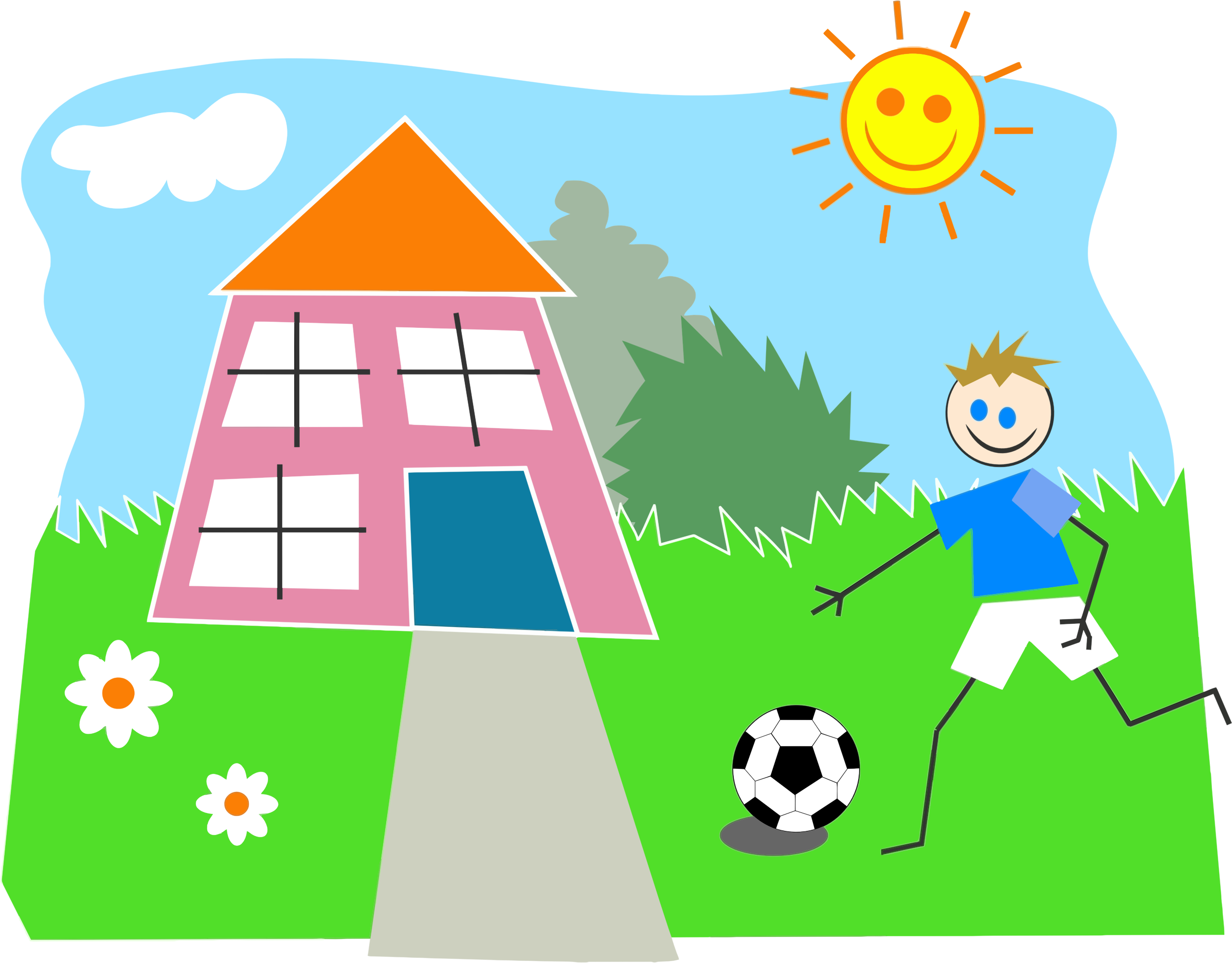 Boy Playing Soccer by @GDJ, From Pixabay., on @openclipart ...
