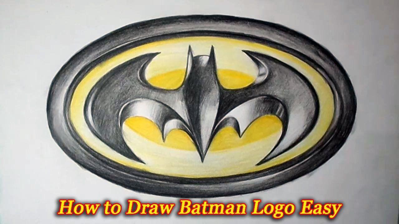 How To Draw Batman Logo Easy For Children Rishuka Batman Drawing