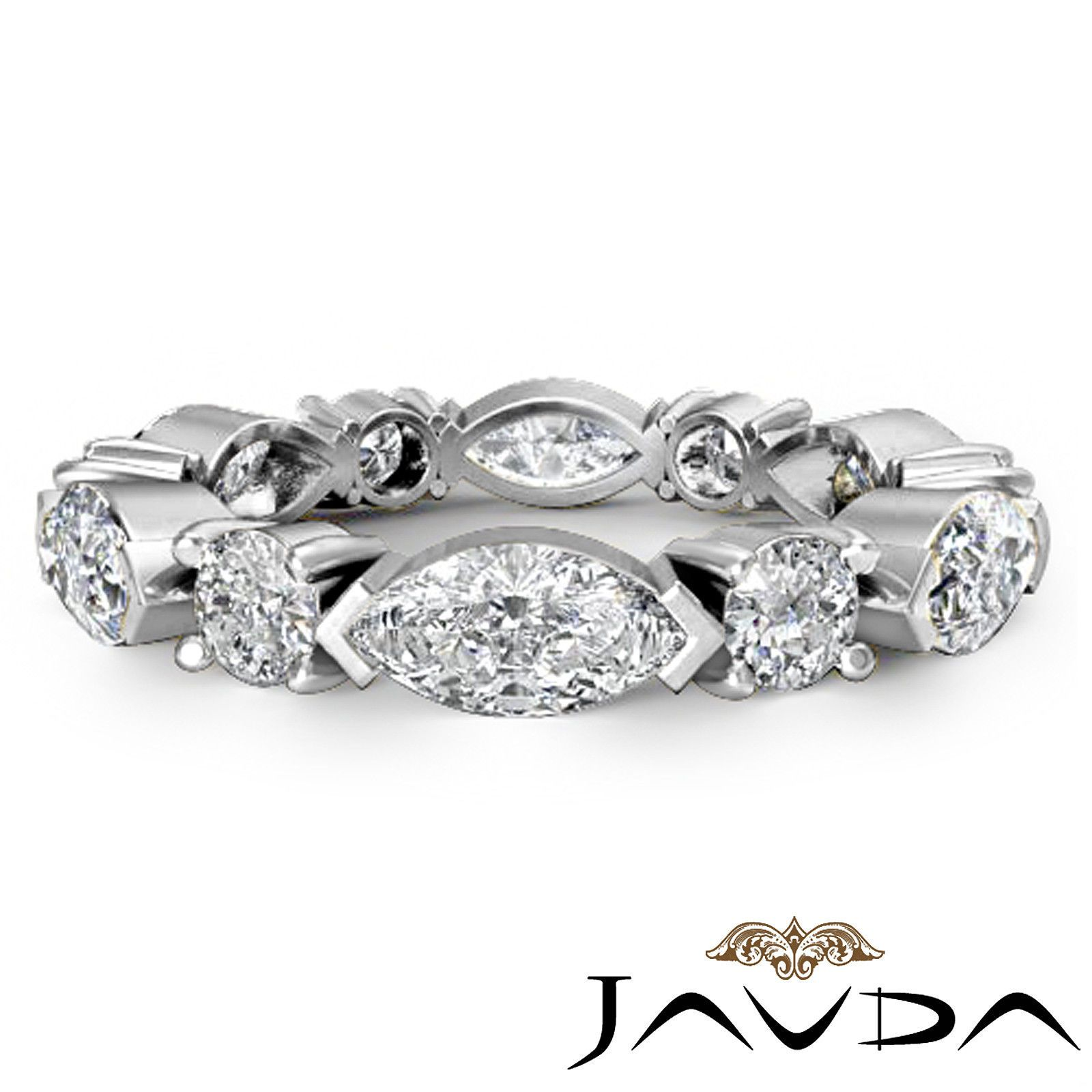 women classic eternity wedding band marquise round diamond ring