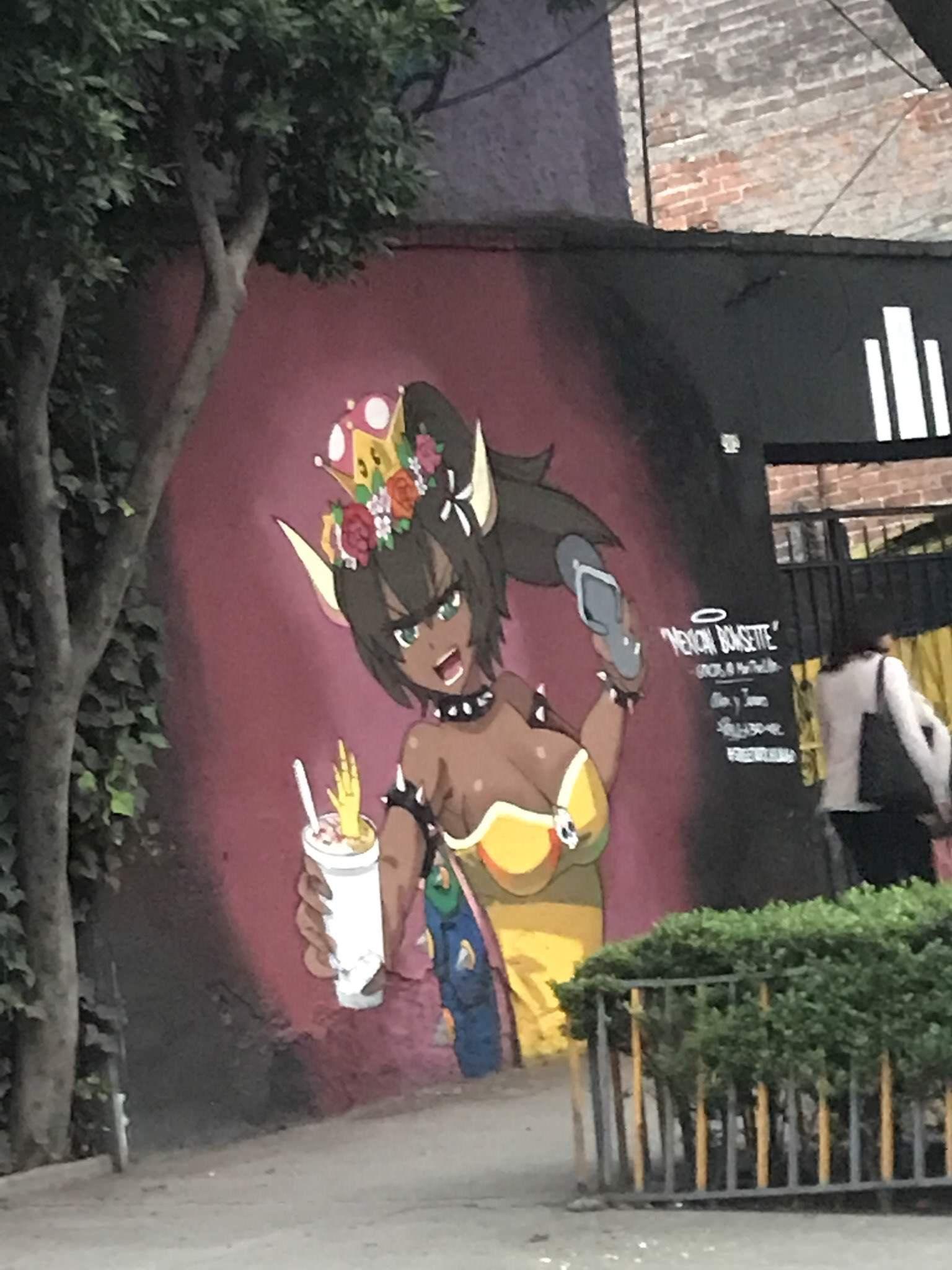 irl bowsette grafitti Amazing stories, Anime, Memes